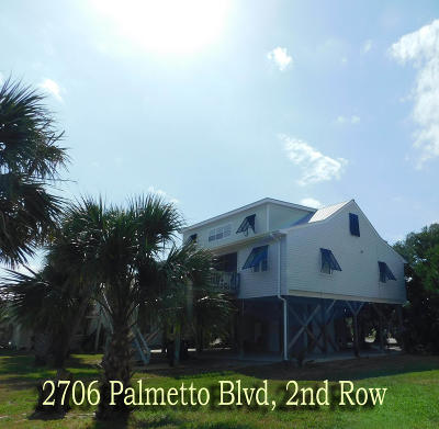 Edisto Beach Single Family Home For Sale: 2706 Palmetto Boulevard
