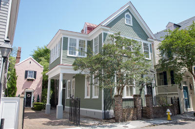 Single Family Home For Sale: 82 Tradd Street