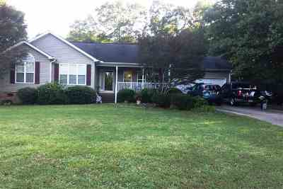 Anderson, Fair Play, Lafrance, Townville, Westminster, Lake Hartwell, Seneca Single Family Home Under Contract: 103 Brandywine Lane