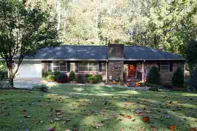 Clemson Single Family Home Contract-Take Back-Ups: 505 Issaqueena Trail