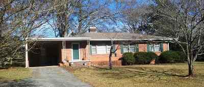 Clemson Single Family Home Contract-Take Back-Ups: 207 Brook St