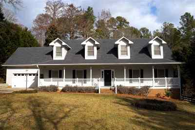 Cobb's Glen Single Family Home Contract-Take Back-Ups: 313 Burning Tree Road