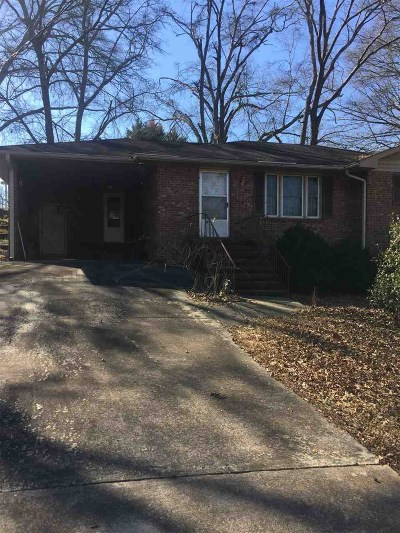 Anderson Single Family Home Under Contract: 418 Nursery Lane