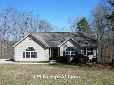 Single Family Home For Sale: 110 Deerfield Lane
