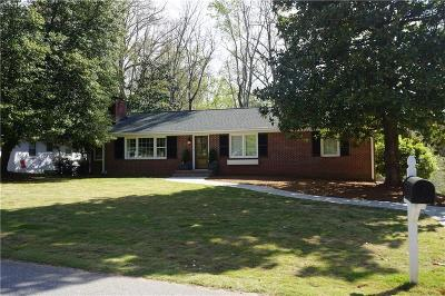 Clemson Single Family Home Contract-Take Back-Ups: 233 Riggs Drive