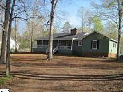 Pelzer Single Family Home For Sale: 137 Robinwood Lane
