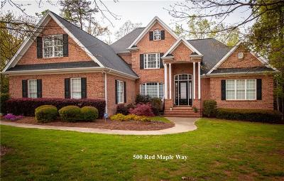 Clemson Single Family Home For Sale: 500 Red Maple Way
