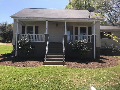 Easley Single Family Home Contract-Take Back-Ups: 103 Maple Street