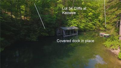 Salem, Senca, Senea, Seneca, Seneca (west Union), Seneca/west Union, Ssneca, Sunset, West Union, Six Mile, Suset Residential Lots & Land For Sale: Lot 34 Cliffs At Keowee Trail