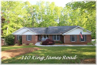 Oconee County Single Family Home For Sale: 110 King James Road