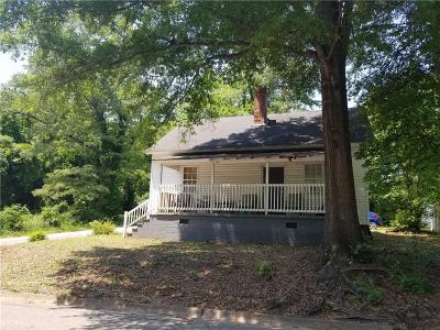 Greenville Single Family Home Contract-Take Back-Ups: 1 N Vance Street