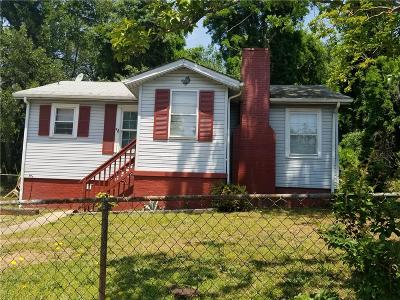 Greenville Single Family Home Contract-Take Back-Ups: 7 Traynham Street