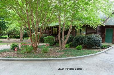 Clemson Single Family Home For Sale: 210 Payne Lane