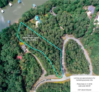Oconee County, Pickens County, Anderson County Residential Lots & Land For Sale: 101 Creek View Drive