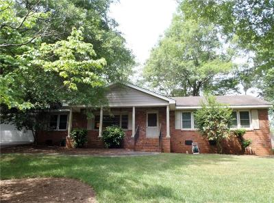 Clemson Single Family Home Contract-Take Back-Ups: 106 Lakeview Circle