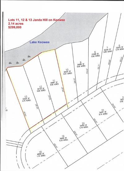Residential Lots & Land For Sale: 00 Janda Hill On Keowee