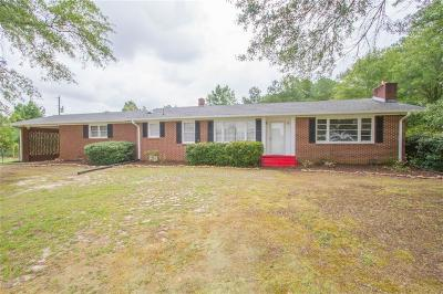 Abbeville County Single Family Home For Sale: 2318 Flat Rock Road