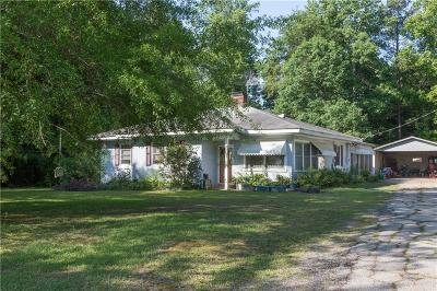 Abbeville County Single Family Home Contract-Take Back-Ups: 90 Durham Road