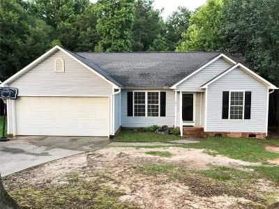 Anderson SC Single Family Home For Sale: $130,000