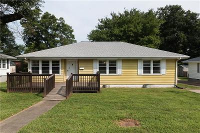 Easley Single Family Home Contract-Take Back-Ups: 105 Townsend Drive