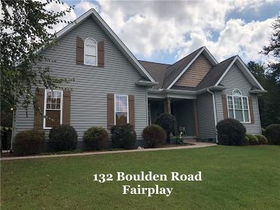 Fair Play Single Family Home For Sale: 132 Boulden Road