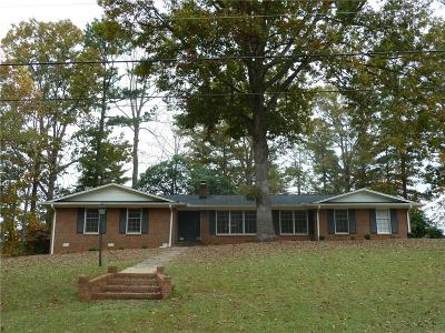 Pickens County Single Family Home Contract-Take Back-Ups: 609 Laurel Road