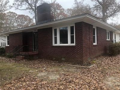 Belton Single Family Home Contract-Take Back-Ups: 109 Hiawatha Drive