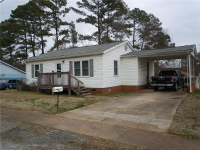 Walhalla Single Family Home For Sale: 309 S Spring