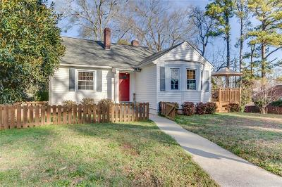 Anderson Single Family Home Contract-Take Back-Ups: 309 Moultrie Square