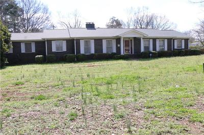 Anderson Single Family Home For Sale: 2808 Bellview Road
