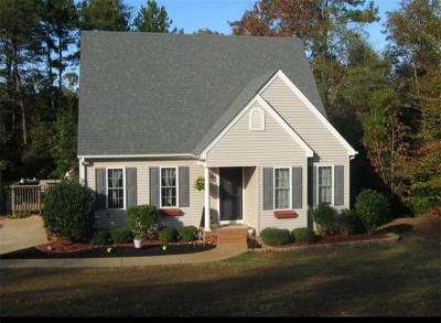 Oconee County Single Family Home Contract-Take Back-Ups: 221 Castlebrook Drive