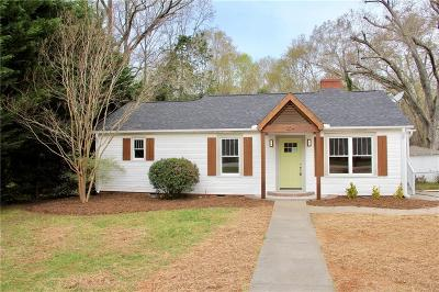 Easley Single Family Home Contract-Take Back-Ups: 204 Parkway Drive