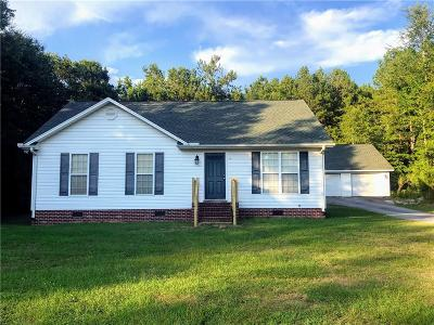 Abbeville County Single Family Home Contract-Take Back-Ups: 1235 Cedar Springs Road