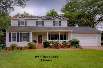 Clemson Single Family Home For Sale: 105 Monaco Circle