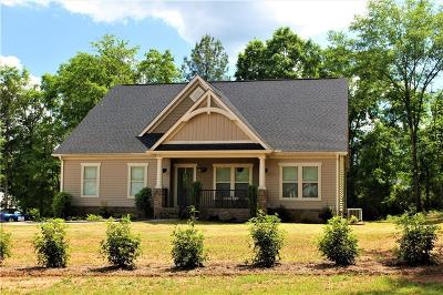 Clemson Single Family Home Contract-Take Back-Ups: 350 Booker Springs Road