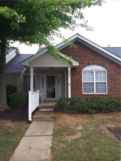 Simpsonville Townhouse Contract-Take Back-Ups: 223 Woodruff Park Lane