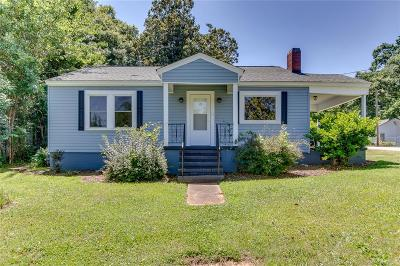 Anderson SC Single Family Home For Sale: $80,000