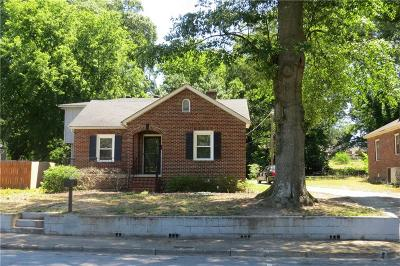 Anderson Single Family Home For Sale: 1706 Park Drive