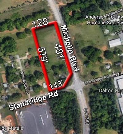 Anderson County Residential Lots & Land For Sale: 2618 Standridge Road