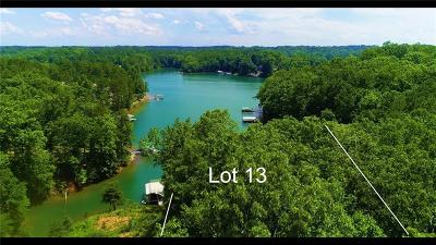 Oconee County, Pickens County Residential Lots & Land For Sale: Lot 13 Peninsula Pointe South