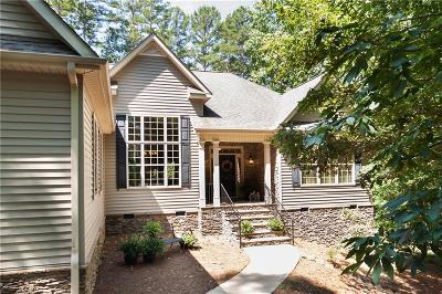 Keowee Key Single Family Home Contract-Take Back-Ups: 27 Channel Lane