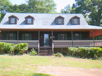 Single Family Home For Sale: 8701 Abbeville Highway