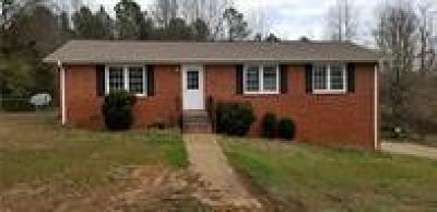Williamston Single Family Home For Sale: 102 Thomas Drive
