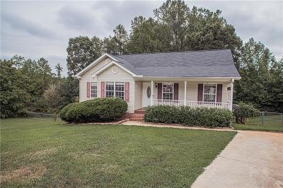 Easley Single Family Home Contract-Take Back-Ups: 644 Old Cedar Rock Road
