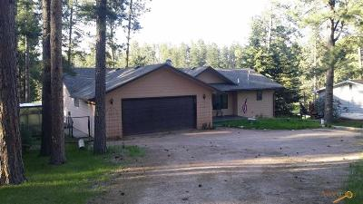 Hill City Single Family Home For Sale: 12628 Mitchell Lake Rd