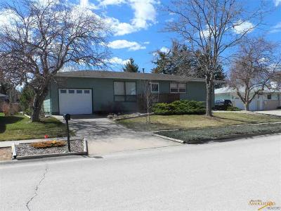 Rapid City Single Family Home U/C Right Of Refusal: 2407 Harney Dr