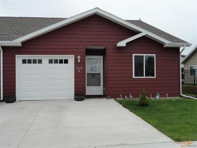 Rapid City Condo/Townhouse For Sale: 613 Kathryn Ave