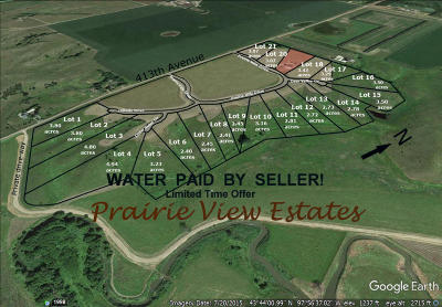 Mitchell Residential Lots & Land For Sale: Prairie Hills Dr
