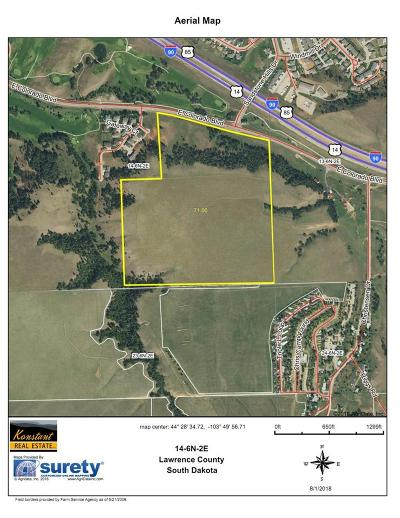 Spearfish SD Residential Lots & Land For Sale: $1,500,000
