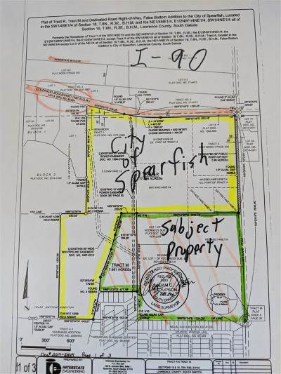Spearfish SD Residential Lots & Land For Sale: $2,100,000